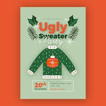 Brzydki sweter zaproszenie na przyjęcie