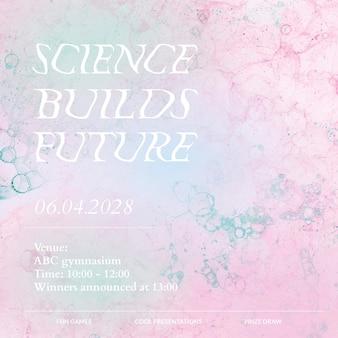 Bubble art science szablon wektor wydarzenie estetyczne media społecznościowe ad