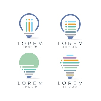 Bubble światła kolekcji logo