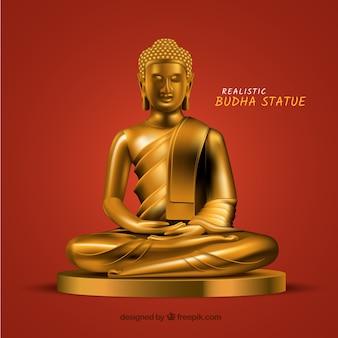 Budha statua z realistycznym stylem
