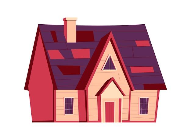 Budowa domu, ilustracja kreskówka