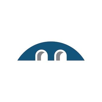 Budowa mostu logo szablon wektor ikona