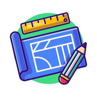 Budowa planów za pomocą ołówka i linijki płaskiej.