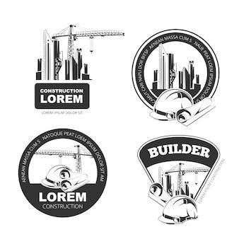 Budowa wektor zestaw odznak