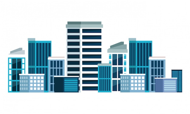 Budowanie architektury miejskiej ikona kreskówka