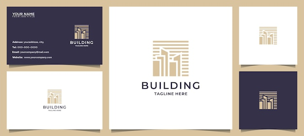 Budowanie inspiracji logo z grafiką koncepcyjną i wizytówką