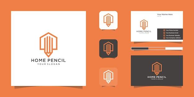 Budowanie inspirujące dzięki logo w stylu grafiki liniowej i wizytówce