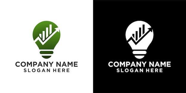 Budowanie pomysłu na lampę logo wektor szablon projekt premium