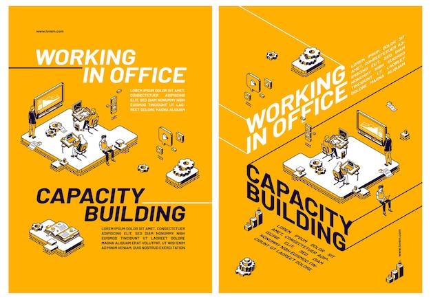 Budowanie Potencjału Poprzez Pracę W Biurze Darmowych Wektorów