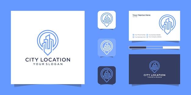 Budowanie stylu grafiki linii logo lokalizacji i wizytówki