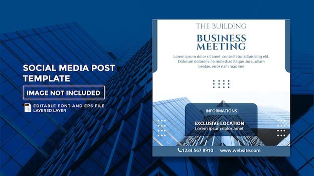 Budowanie szablonu postu w mediach społecznościowych na spotkanie biznesowe