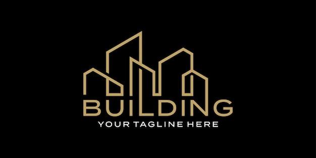 Budowanie znaku słownego nowoczesny szablon inspiracji do projektowania logo