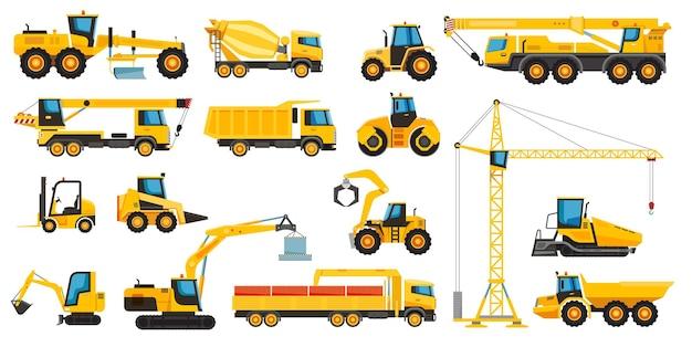 Budownictwo ciężkie maszyny sprzęt budowlany pojazdy wózek widłowy żuraw ciągnik spychacz koparka