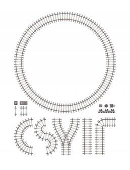 Budowy linii kolejowej odosobniony biel