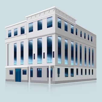 Budynek białego banku. ilustracji wektorowych. eps 10.