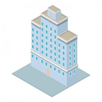 Budynek firmy izometryczny