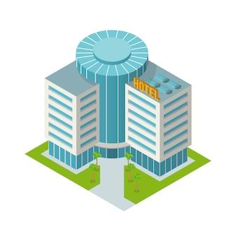 Budynek hotelowy izometryczny