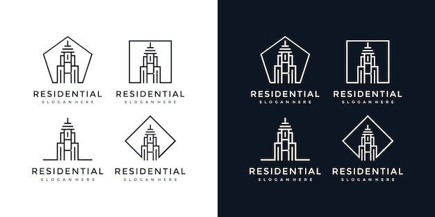 Budynek logo litera r.
