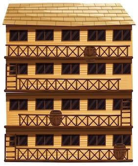 Budynek o czterech kondygnacjach
