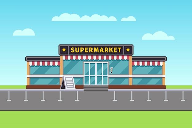 Budynek supermarketu