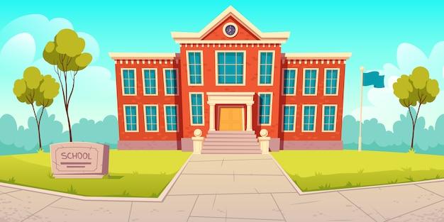 Budynek szkoły, instytucja edukacyjna, kolegium