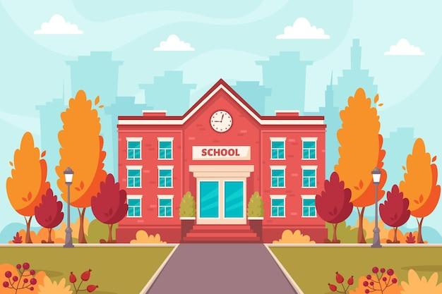 Budynek szkoły powrót do szkoły