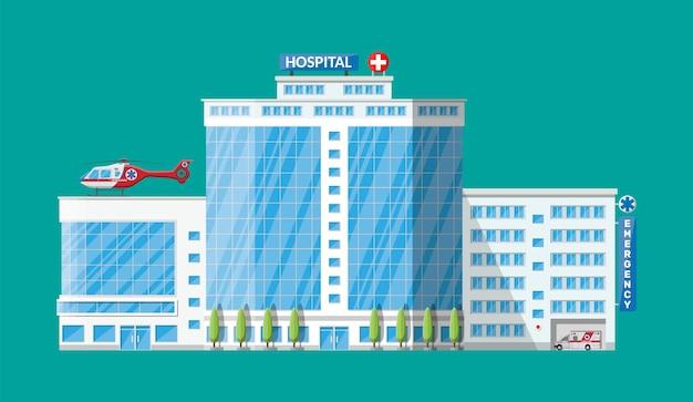Budynek szpitala, ikona medyczna. opieka zdrowotna, szpital i diagnostyka medyczna.