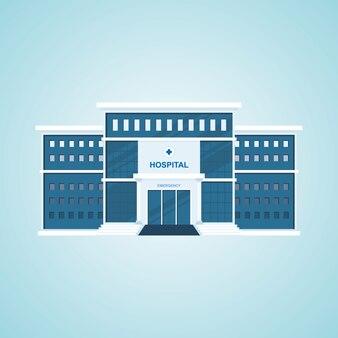 Budynek szpitala ilustracja wektorowa
