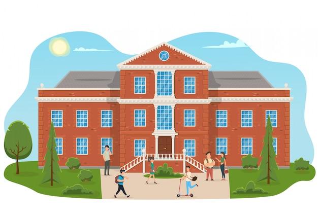 Budynek uniwersytetu lub uczelni.