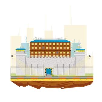 Budynek więzienia dla więzienia
