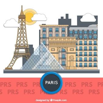 Budynki paryż