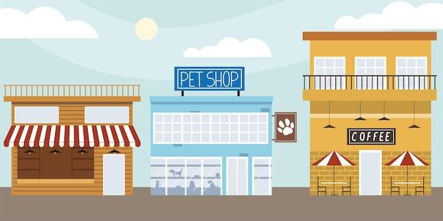 Budynki sklepowe sklep zoologiczny