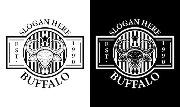 Buffalo vintage retro odznaka etykieta godło logo design