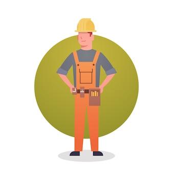 Builder man icon engeneer occupation contractor