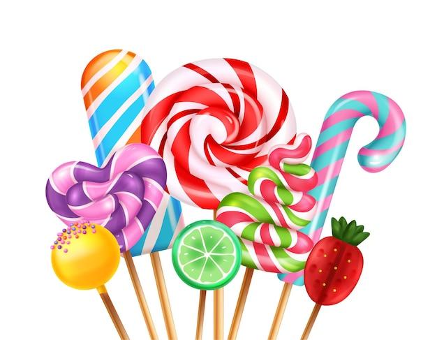 Bukiet cukierków lollipop