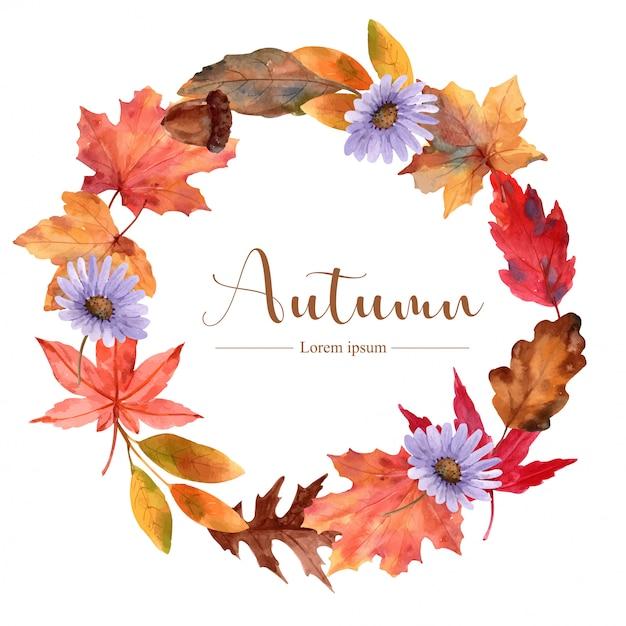 Bukiet Kwiatów Jesienią Premium Wektorów