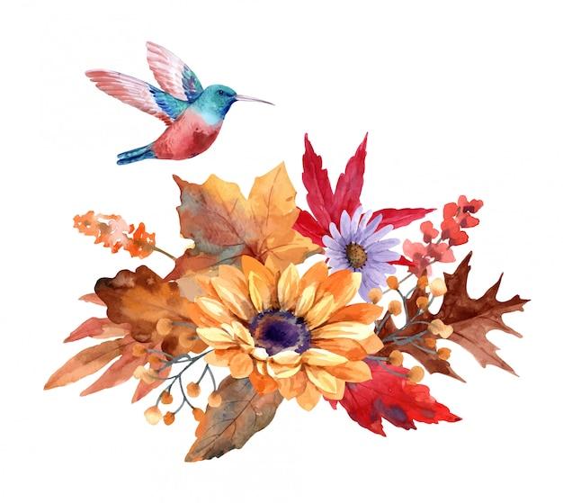 Bukiet kwiatów jesienią
