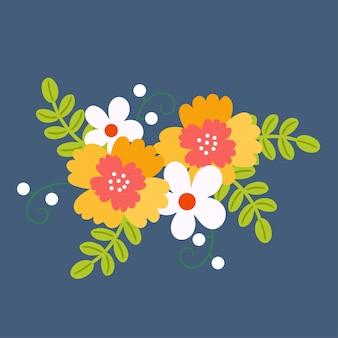 Bukiet kwiatów kwiatowy bukiet.