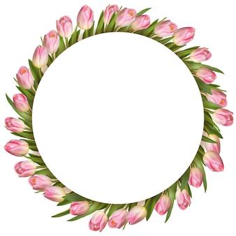 Bukiet różowych tulipanów.