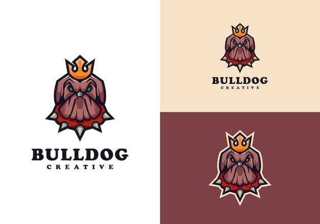 Buldog postać maskotka logo szablon projektu