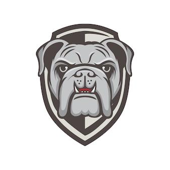 Buldoga loga maskotki sporta projekta ilustracja