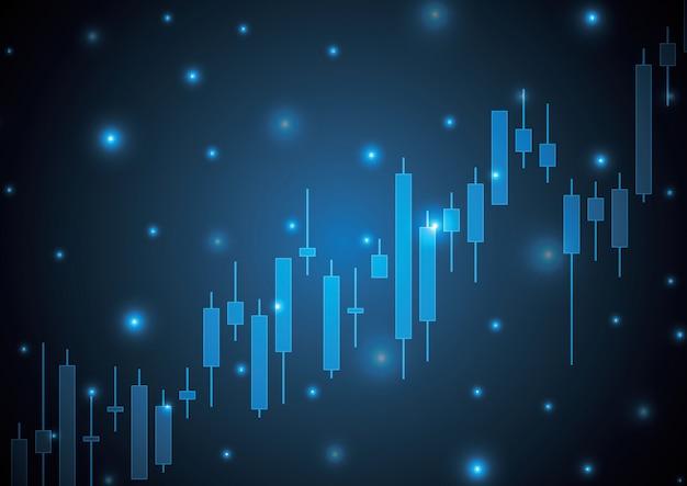 Bulish stock market świeca kij