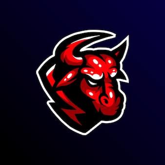 Bull maskotka logo esport gamin.