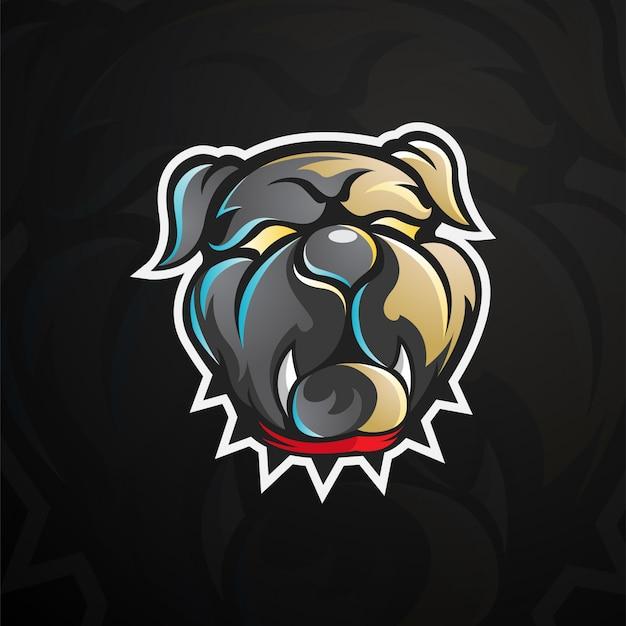 Bulldog head logo ilustracja