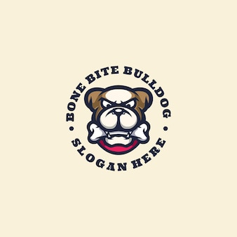 Bulldog logo maskotka