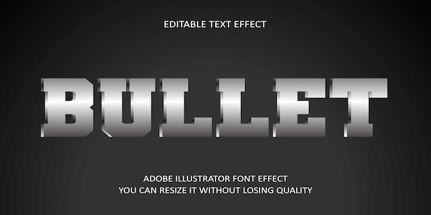 Bullet edytowalny tekst efekt