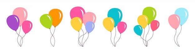 Bunch air balloon birthday party set gift