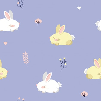Bunny seamless pattern