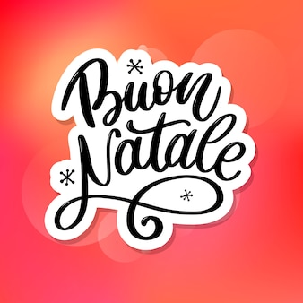 Buon natale. wesołych świąt bożego narodzenia kaligrafia. typografia czarny kartkę z życzeniami