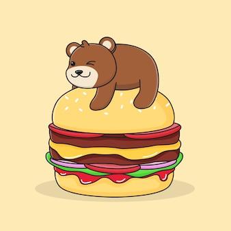 Burger na szczycie niedźwiedzia